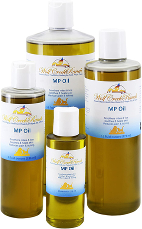 Certified Organic Mange Parasite Oil is excellent to soothe itching, pain, inflammation, and eliminate pesky mites and mange1